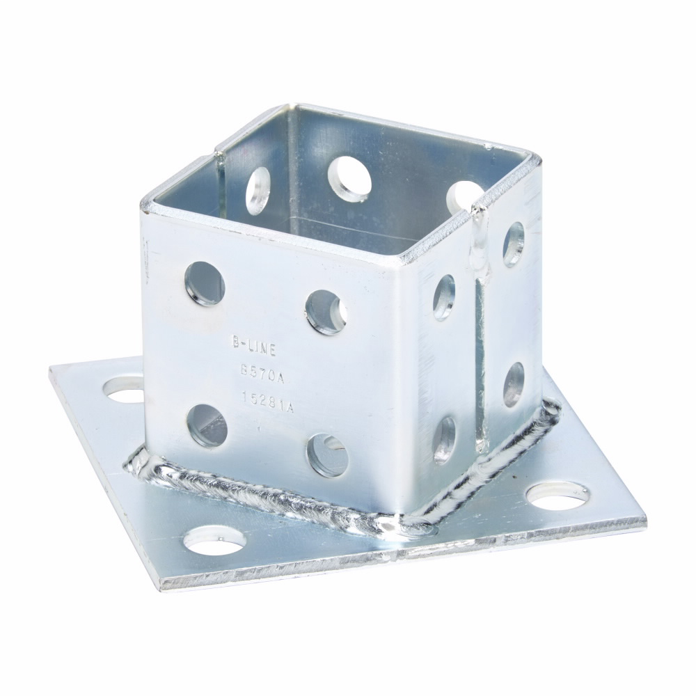 Eaton B-Line series strut fittings and accessories - Length 6 in, Width 1.62 in, Height 6 in