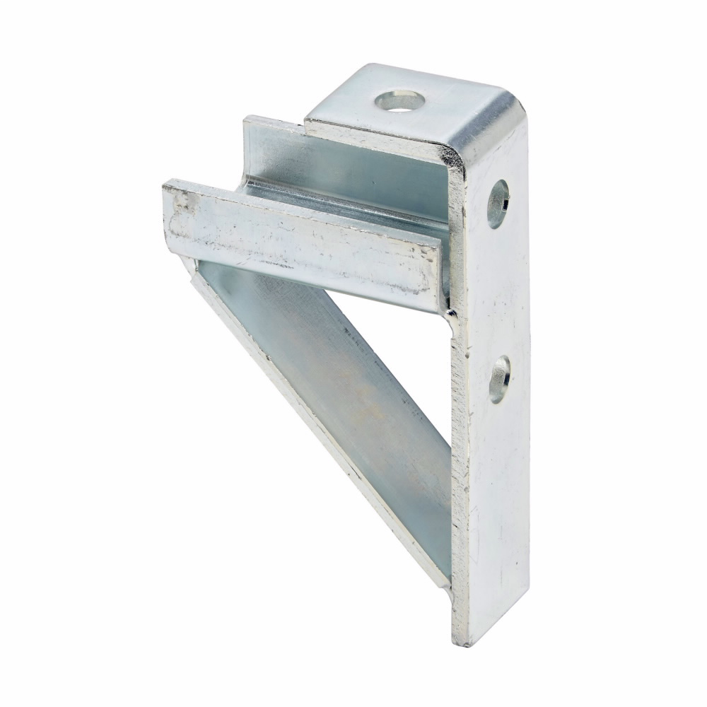 """Eaton B-Line series strut fittings and accessories, 6.37"""" Height, 3.75"""" Length, 1.62"""" Width, 2.10lbs, Steel, Bracket, Load rating 6300 in-lbs, Fits channel type B22 and B24, Electro-plated"""
