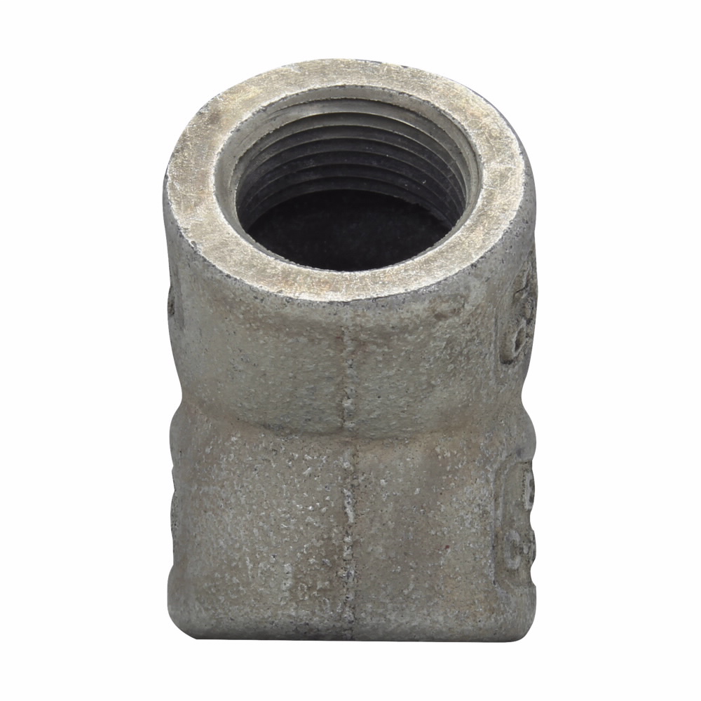 Eaton Crouse-Hinds series EL elbow, Female, Feraloy iron alloy or ductile iron, 45°, 1-1/4""