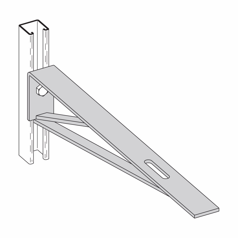 Eaton B-Line series strut fittings and accessories - Length 24 in, Width 2 in, Height 4 in - Steel