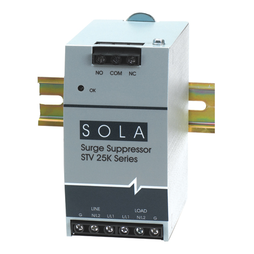 Surge Protection DIN Rail Mount, Input Voltage 120, Single Phase (L-N)