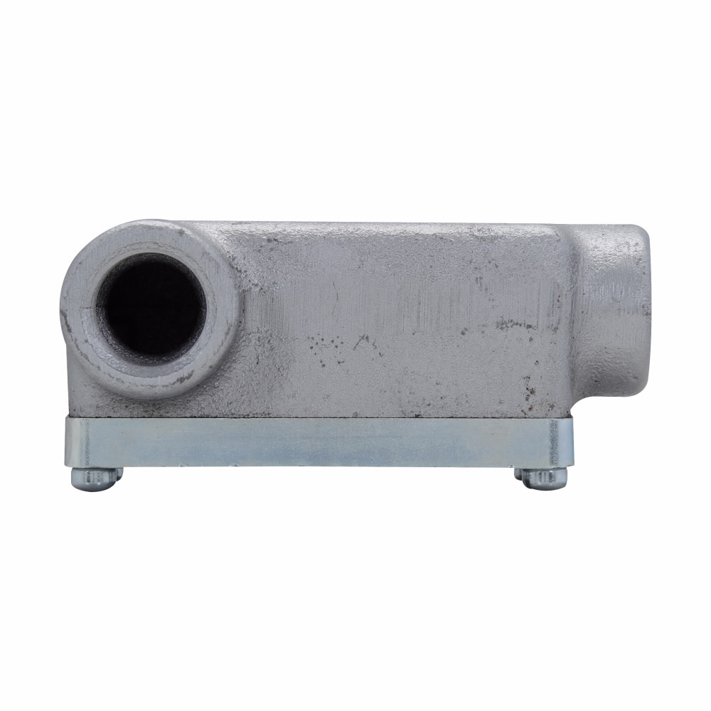 Eaton Crouse-Hinds series Condulet OE conduit outlet body with cover, Feraloy iron alloy, LL shape, 3/4""