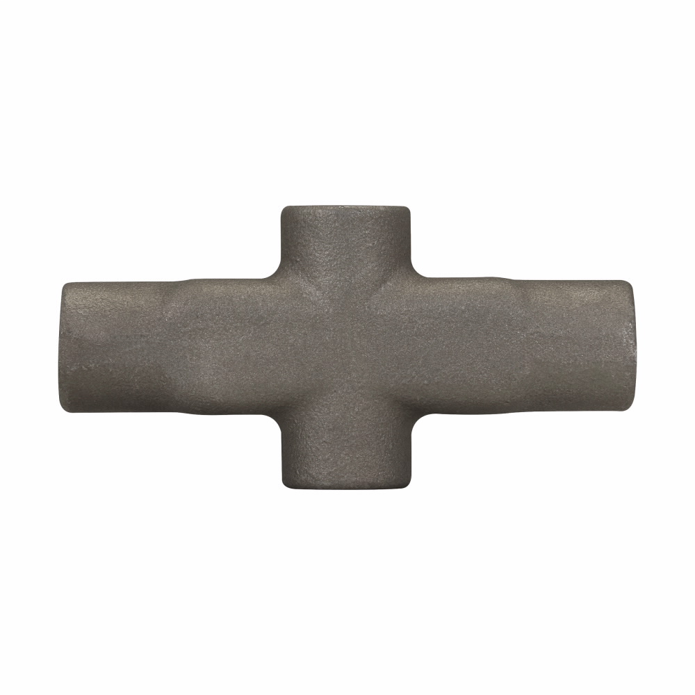 Eaton Crouse-Hinds series Condulet Mark 9 conduit outlet body, Copper-free aluminum, X shape, 3/4""