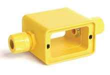 """Super-Safeway® Multiple Outlet Box, Extended Depth, 2-Sided, Feed-Thru, (2) F3 (3/4"""") Cord Grip Body, Box only"""