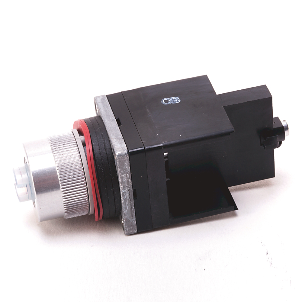 800MR 3-Position Selector Switch Units, Non-Illuminated, 3-Position Selector Switch, No Knob, Spring Returned From Both, U Cam, No Contacts, Stab Terminals