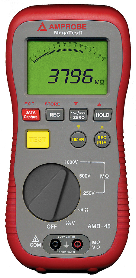 Test insulation of wires, cables, transformers and electrical motors quickly and easily with this rugged tester.