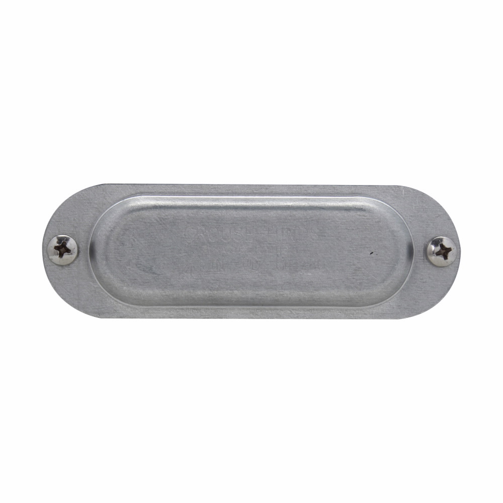 """Eaton Crouse-Hinds series Condulet Form 8 cover, Sheet steel, 1/2"""""""
