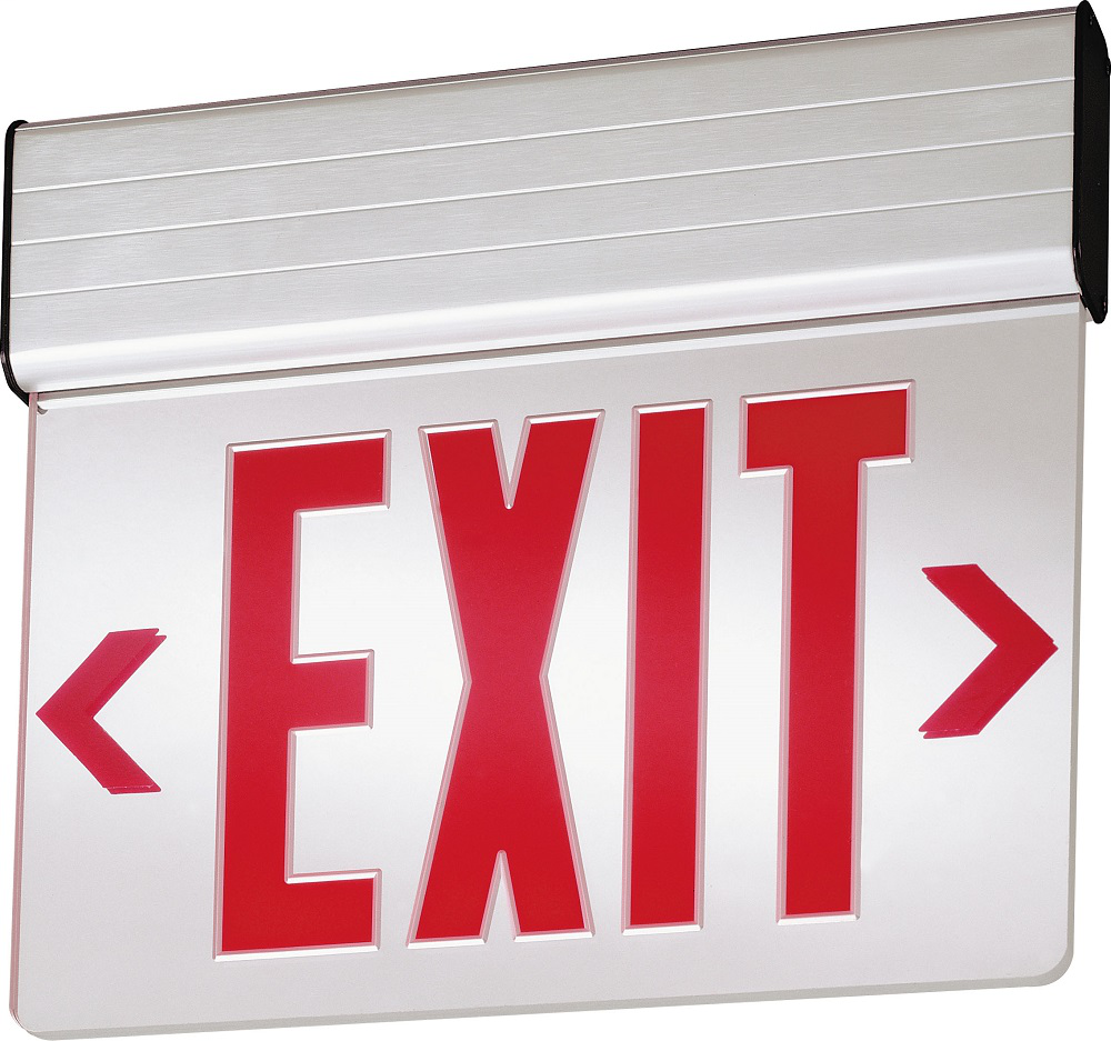 Surface mount LED edge-lit, Double face, Red, Emergency, SKU - 144FF6