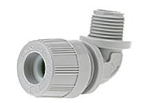 "MAX-LOC® Strain Relief Cord-Sealing Grip, 3/4"" NPT, 90° Angle Male, Cable Diameter 15.88-19.05mm (.625-.750"")"