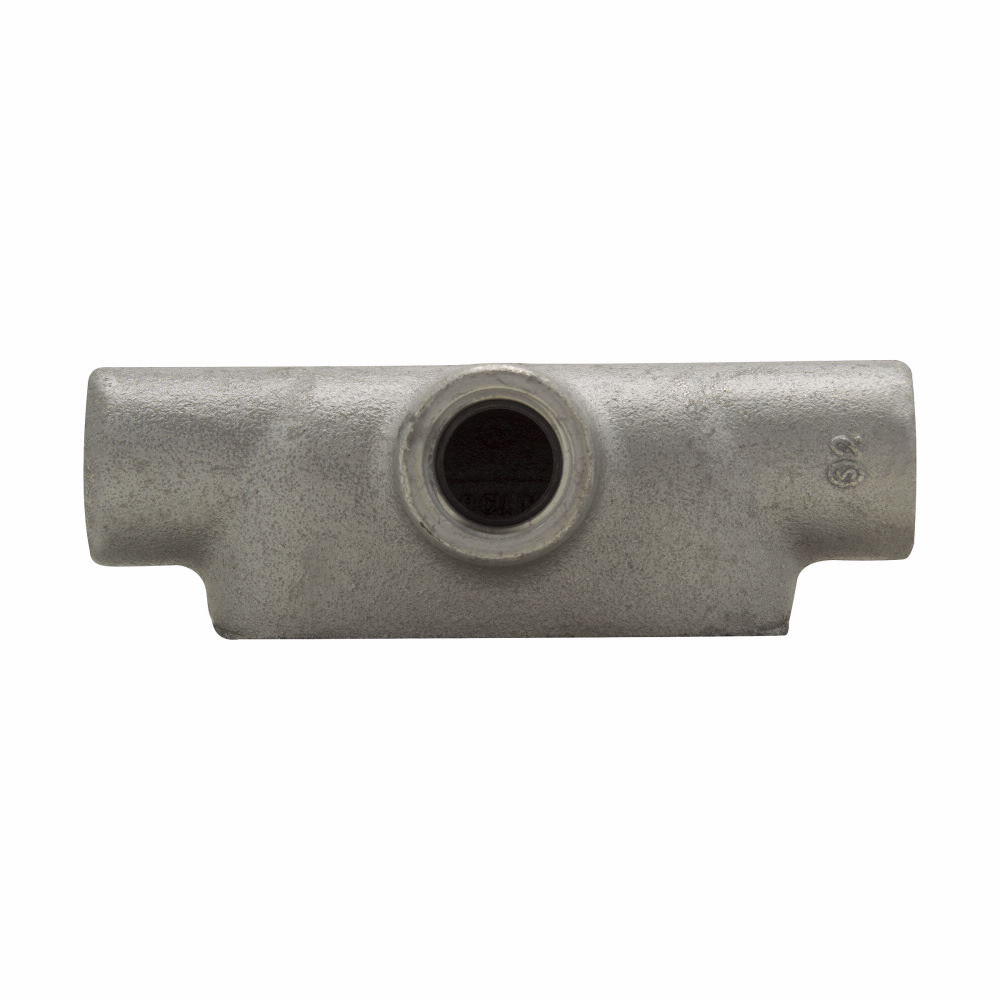 "Mayer-Eaton Crouse-Hinds series Condulet Form 7 conduit outlet body, Feraloy iron alloy, T shape, 3/4""-1"
