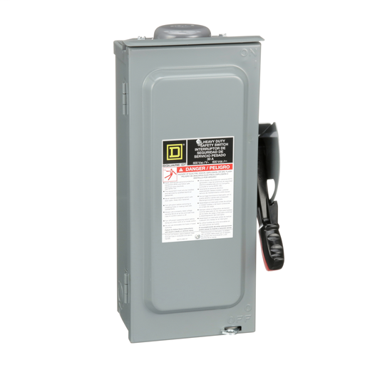 Mayer-100A 2P SN Type3R 240VAC/250VDC Heavy Duty Fusible Safety Switch-1