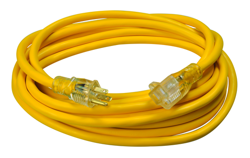 Mayer-CORD, 12/3 25' SJTW YELLOW LIGHTED END-1