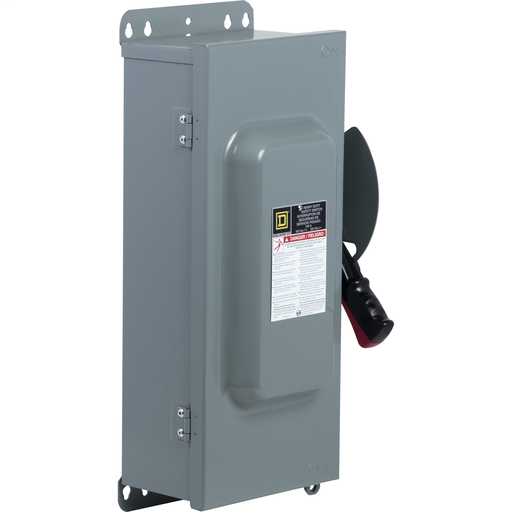 Mayer-100A 3P Type12 600V Heavy Duty Non-Fusible Safety Switch With E- Interlock-1