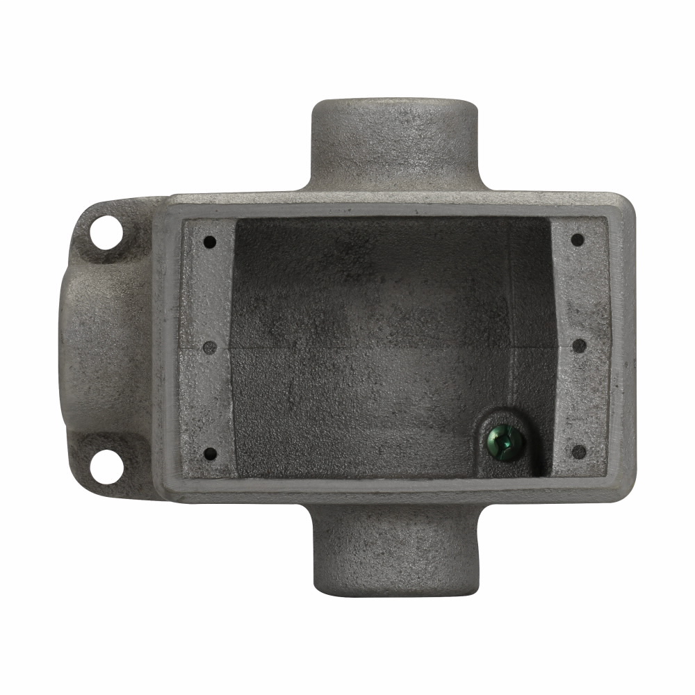 Eaton Crouse-Hinds series Condulet FD device box, Deep, Feraloy iron alloy, Single-gang, T shape, 3/4""