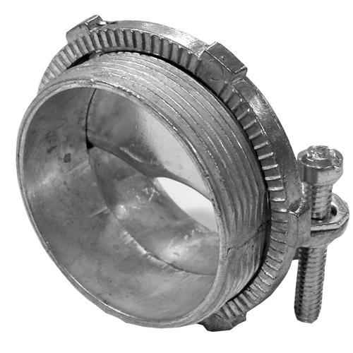 Features:2.58IN Dia X 1.59IN Length, For 4-4/0 AWG Round Service Entrance Cable, With Clamp, Standard:UL 514B, CSA C22.2, NEMA FB-1, Size:2IN, Material:Die Cast Zinc