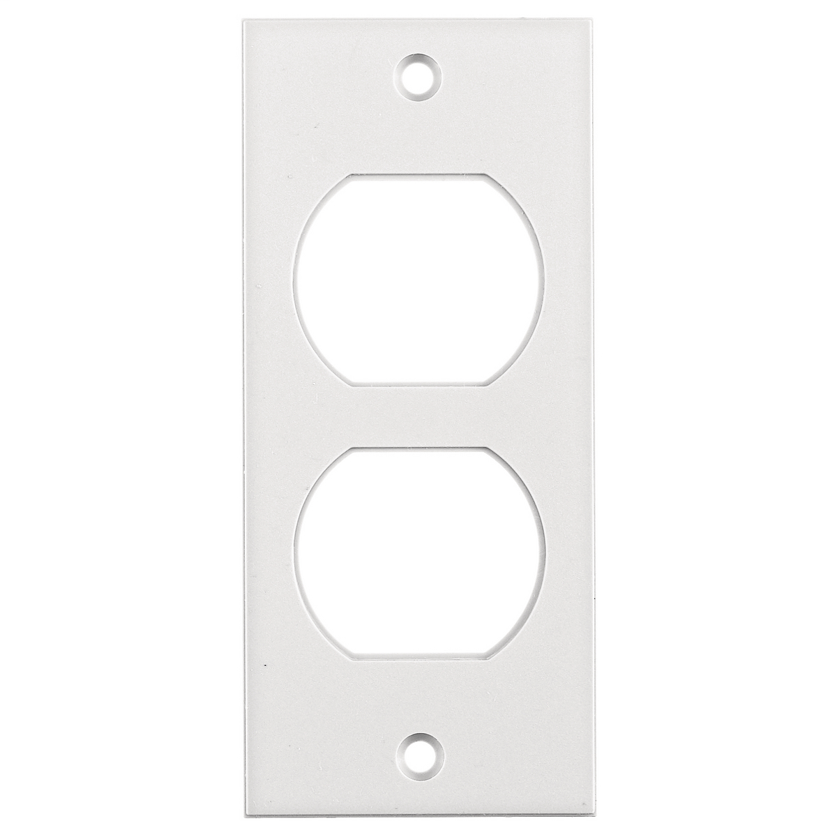 Hubbell Wiring Device Kellems, Floor and Wall Boxes, MULTI-CONNECTSystem, Face Plate, Screw Mount, Duplex, White