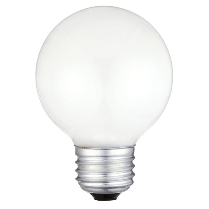 60W G19 1/2 Incandescent White E26 (Medium) Base, 120 Volt, Box