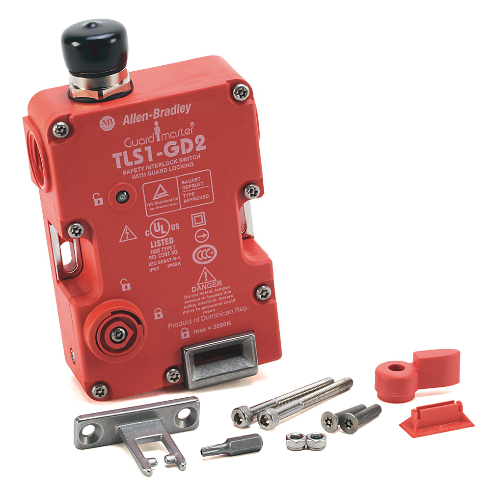 Guard Locking Switch, 440G-T,TLS-1, FF Actuator, Voltage 24V, M20, Manual Release Cover