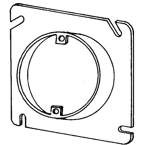 """Square Cover, Appleton, 4-11/16"""" flat and single-ceiling plaster rings/mud rings, 3/4"""" Deep raised, Volume: 5 Cubic Inch, Ears 2-3/4"""" C to C, UL Standard: 514A, UL Listed: E2527, NEMA: OS-1"""