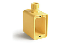 """Super-Safeway® Multiple Outlet Box, Standard Depth, 2-Sided, F2 (1/2"""") Cord Grip Body, Box only"""