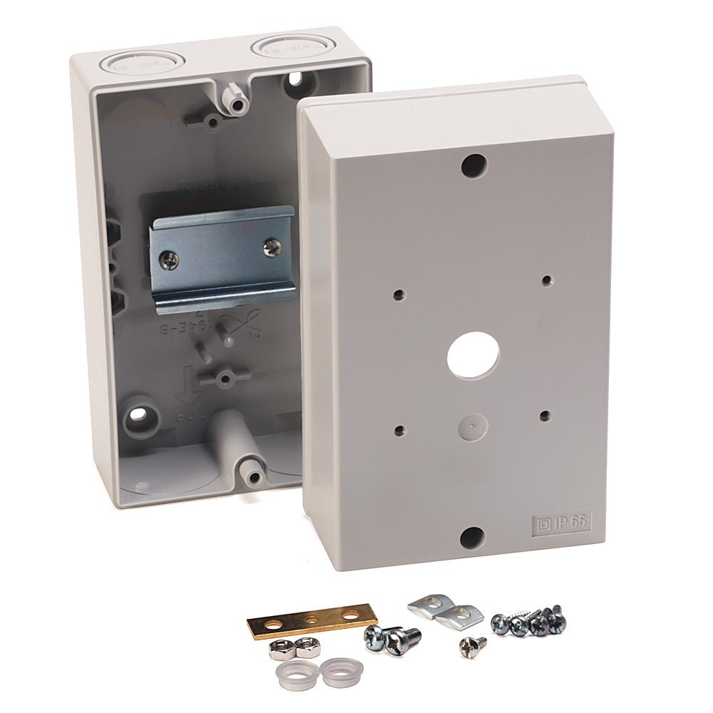 Enclosure,ABS,Metric, Thermoplastic Enclosure, for use with 194E-A25/32 (3…4 poles)