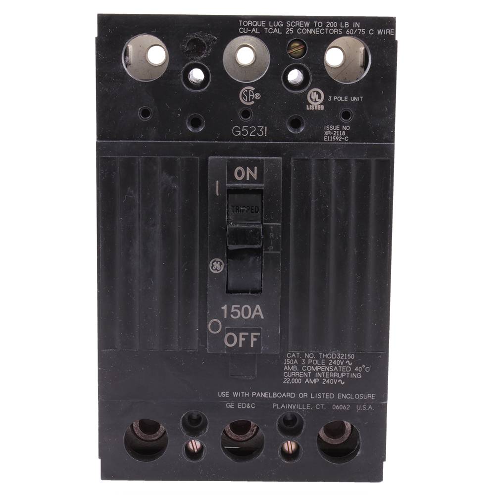 The TQD Line of devices include thermal magnetic molded case circuit breakers and molded case switches. The devices are complete with Cu/Al line and load lugs. 2150 Amps 150 A
