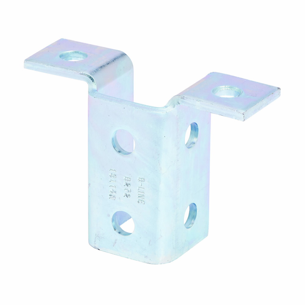 """Eaton B-Line series strut fittings and accessories, 3.93"""" Height, 5.43"""" Length, 1.68"""" Width, 1.56lbs, Steel, Eight hole double wing fitting, DURA GREEN"""