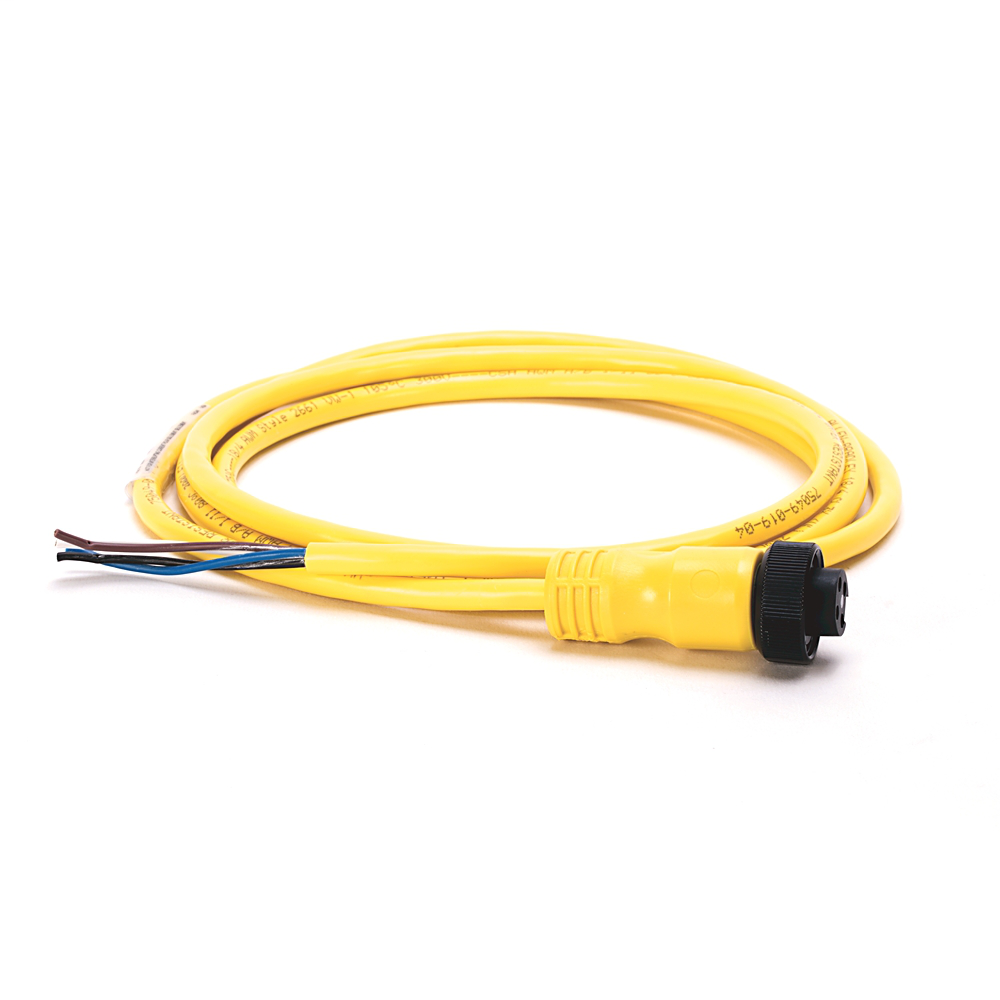 Mini/Mini Plus, Female, Straight, 4-Pin, TPE Cable, Yellow, Unshielded, Automotive Color Coded, No Connector, 6 feet (1.83 meters)