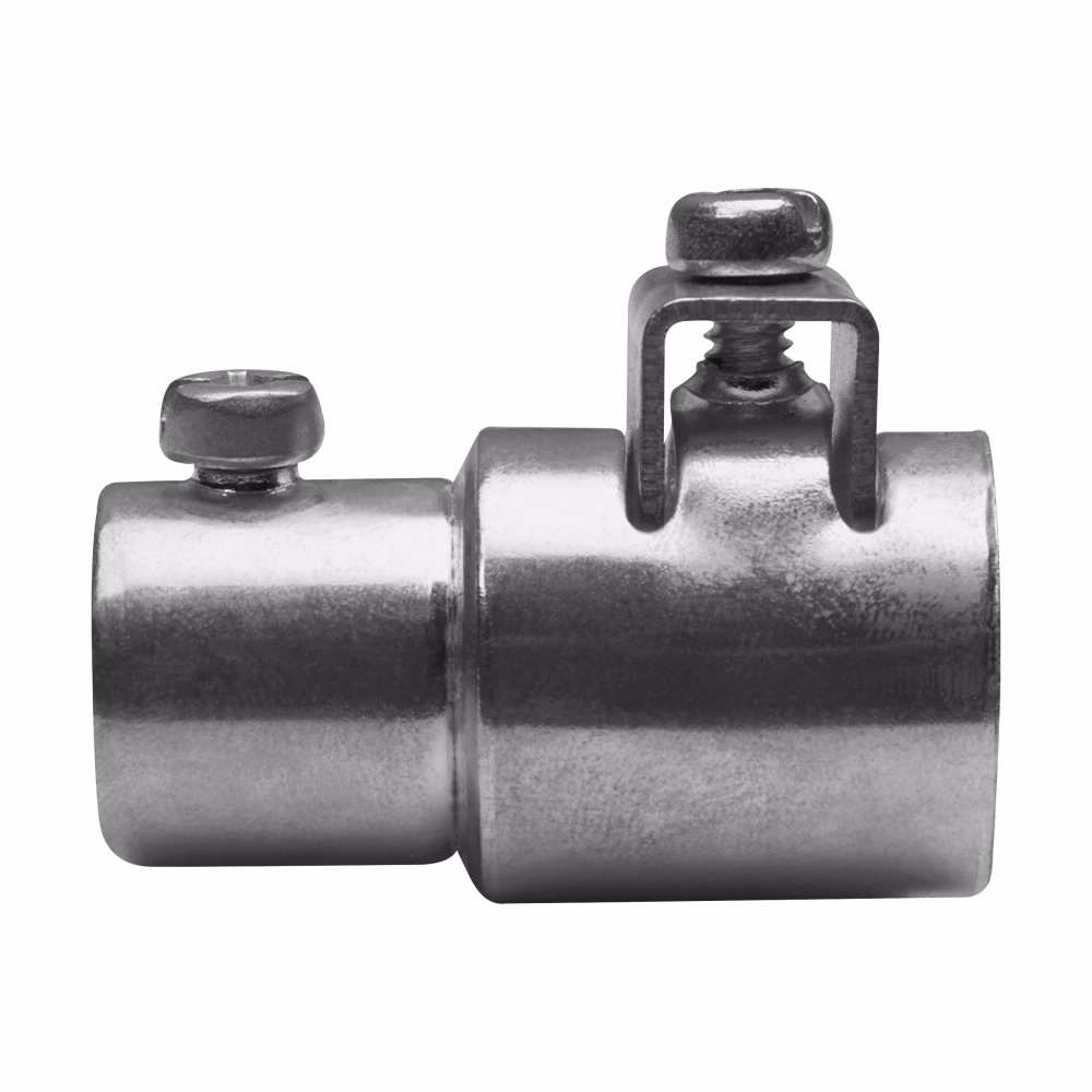 """Eaton Crouse-Hinds series ACC combination coupling, EMT (set screw) to AC/MC/FMC (saddle clamp), Steel, Combination type, 3/4""""-3/4"""""""