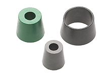 """1/2"""" Cord Grip Grommet, F2 Body Size: 2 or 3 holes 6.35mm (.250"""") Cord Diameter, Gray"""