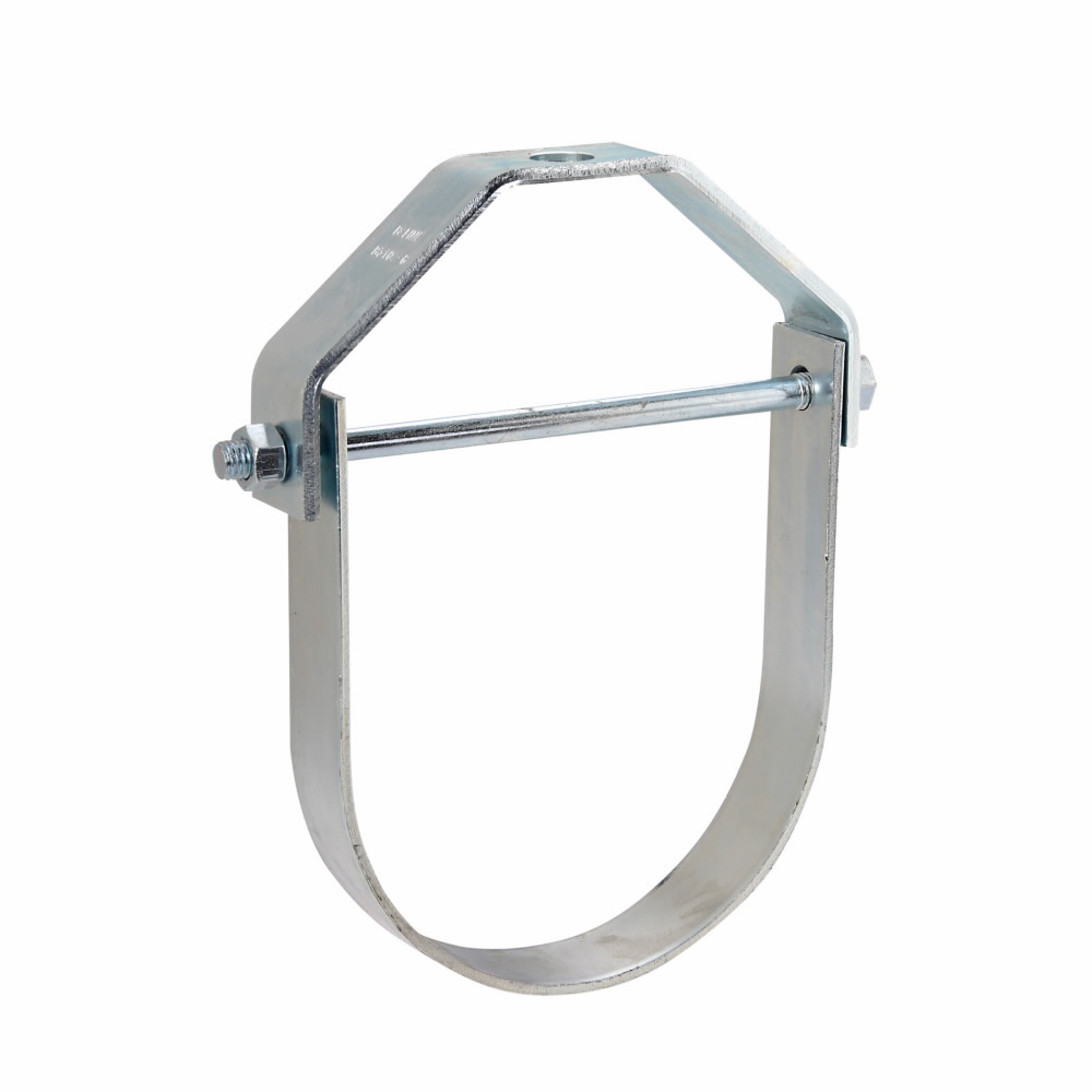 """Eaton B-Line series clevis hanger, 1.25"""" height, 7.724"""" length, 6.063"""" width, Steel, Slide rite clevis hanger, Type 1, Zinc chromate finish, 4"""" pipe size, 5/8-11"""" rod size"""