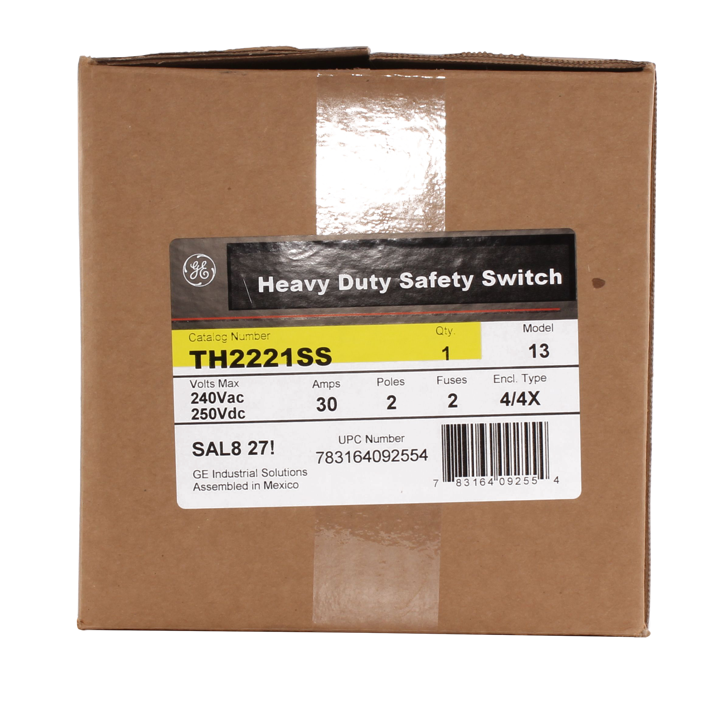 30A 2P HD N4X SS 240V FUSIBLE SW