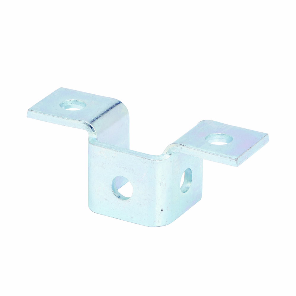 """Eaton B-Line series strut fittings and accessories, 2.06"""" Height, 5.43"""" Length, 1.68"""" Width, .95lbs, Steel, Five hole double wing fitting, Electro-plated"""