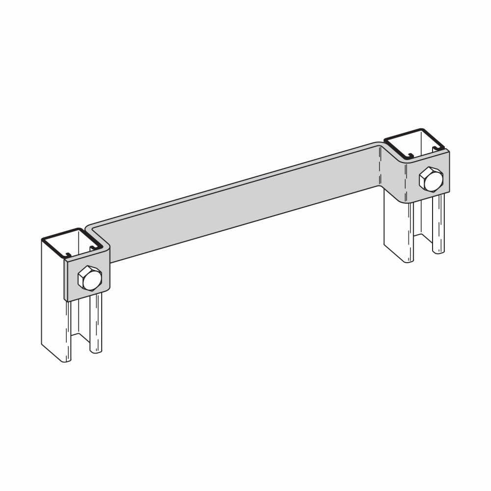 Eaton B-Line series strut fittings and accessories - Length 18 in, Width 1.62 in, Height 1.62 in - Steel