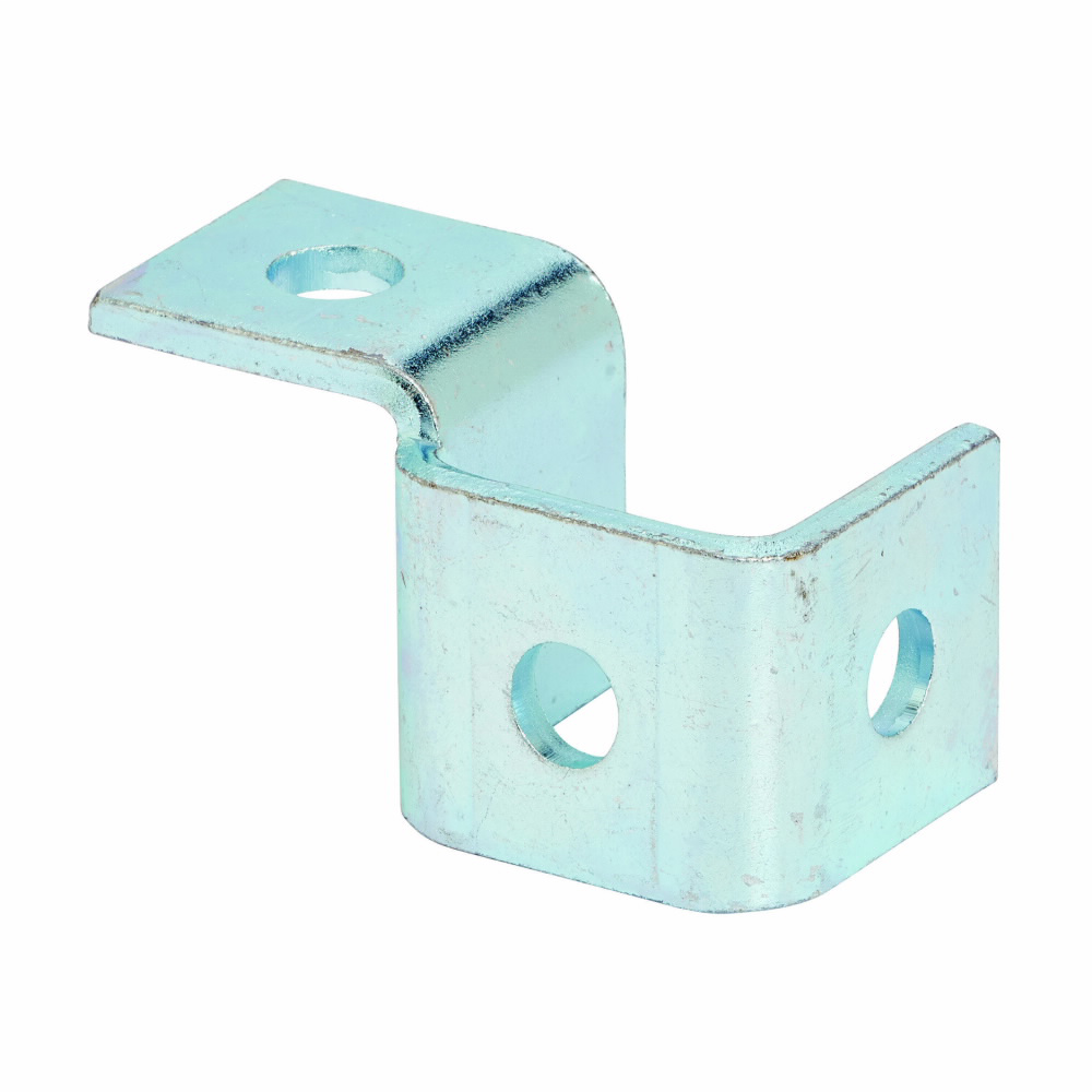 """Eaton B-Line series strut fittings and accessories, 2.06"""" Height, 3.81"""" Length, 1.68"""" Width, .77lbs, Steel, Left hand four hole single corner wing fitting, Electro-plated"""