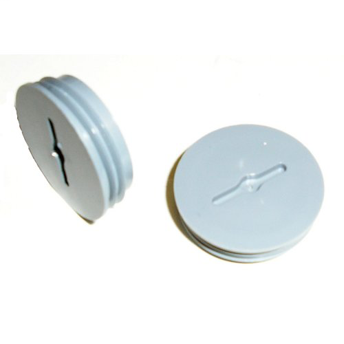 Mulberry; Closure Plug; Size: 1 IN; Material: Die-Cast Zinc; Color: Gray