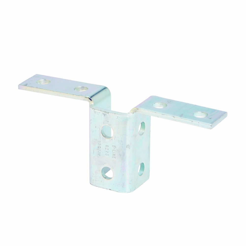 """Eaton B-Line series strut fittings and accessories, 3.93"""" Height, 9.18"""" Length, 1.68"""" Width, 1.85lbs, Steel, Ten hole double wing fitting, Electro-plated"""
