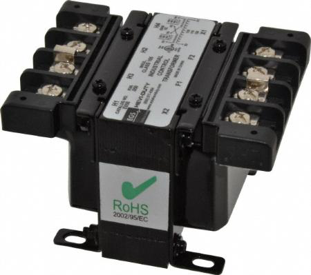 Encapsulated Industrial Control Transformer 50VA, Volts Primary: 208/240/277, Volts Secondary: 120/240, Frequency: 60 HZ