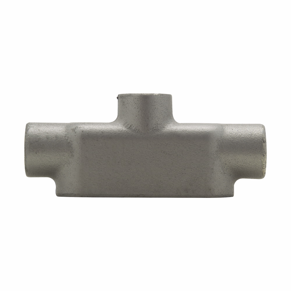 """Eaton Crouse-Hinds series Condulet Form 8 conduit outlet body, Feraloy iron alloy, TB shape, 1"""""""