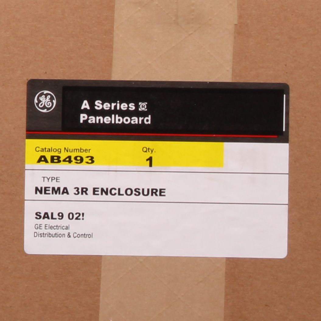 A-Series Panel boards. Pro-Stock, Unassembled Lighting Panels. Boxes come with blank end walls. If end walls with knockouts are required, also order knockout end wall kit AKEW2. B493 49.5 in