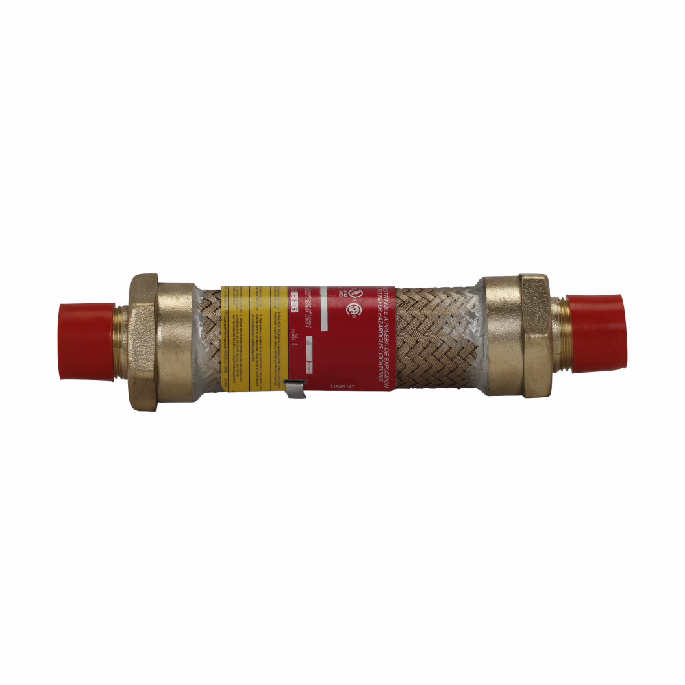 """Eaton Crouse-Hinds series ECGJH coupling, 18"""" flexible length, Male connections both ends, Stainless steel, 4"""" trade size"""