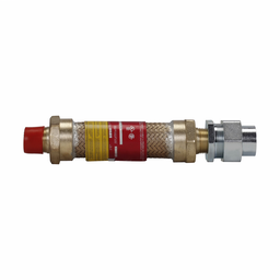 """Mayer-Eaton Crouse-Hinds series ECLK coupling, 36"""" flexible length, Male connection one end, female connection one end, Forged brass, 1/2"""" trade size-1"""