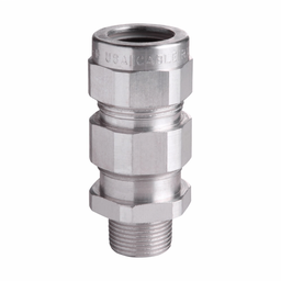 """Mayer-Eaton Crouse-Hinds series TMC cable gland,Metal-clad (interlocked or continuously welded corrugated armoured) and tray cable,Armoured gland, Aluminum, Outer Sheath:3.02-3.78"""",General purpose, 3-1/2"""" NPT,Armor Range:2.95-3.52""""-1"""