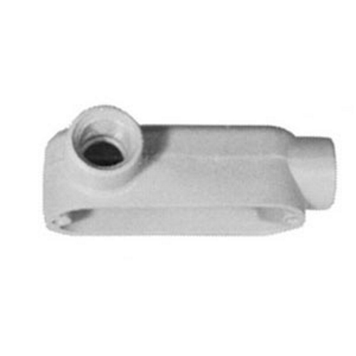 Mayer-Form 85 UNILETS Type LL Conduit Outlet Body, Hub Size: 1/2 IN, Form: 85, Length: 4.31 IN, Width: 2 IN, Material: Pressure Cast Aluminum, Finish: Epoxy Powder Coat, Connection: Tapered Female Threaded, Standard: UL 514A, UL 514B, UL File Num-1