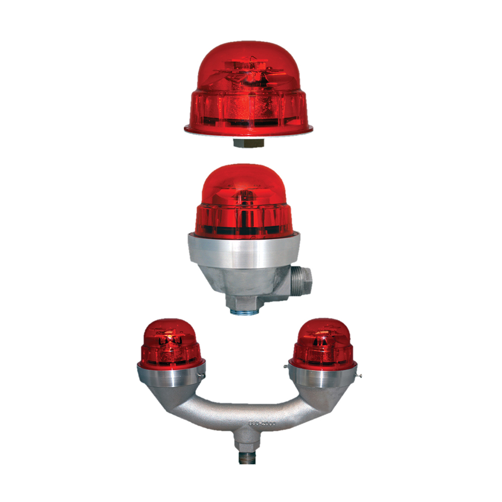 Obstruction fixture, double 120240VAC, Red, FAA