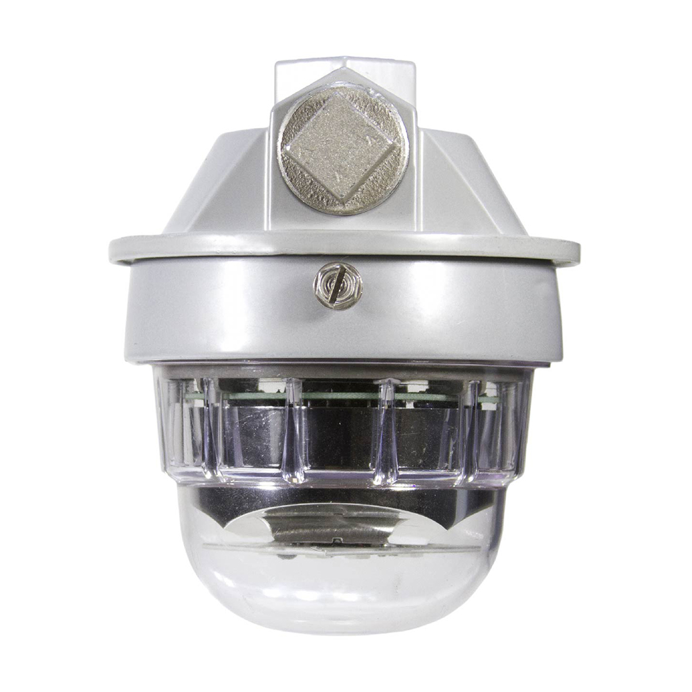 SafeSite RTO 470 lumens, 8 Watts, 100-277V AC, Cool White, Clear Polycarbonate lens, Pendant Mount with Junction BoxUV Stabilized Abrasion Resistant CID2