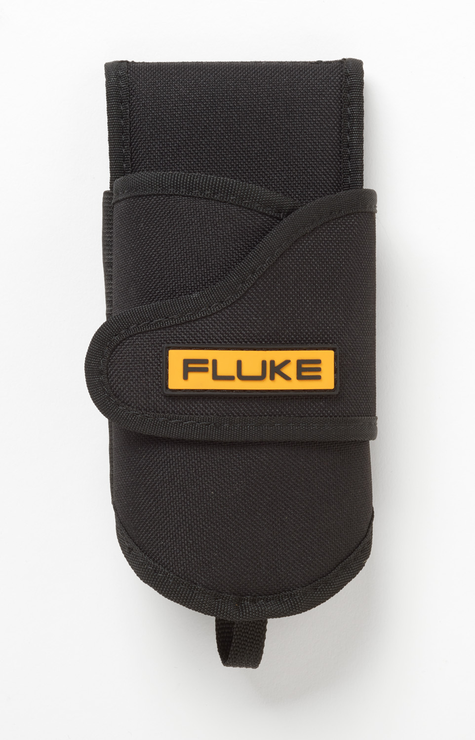 Rugged fabric holster that includes a built-in belt loop for securing your tool, and a flap for holding your test leads.