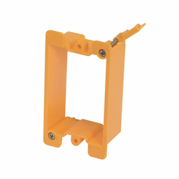 """Mayer-Eaton B-Line series datacomm and low voltage support fasteners, Provides attachment base for low voltage outlets, Single gang bracket, Steel, Bracket mount, Maximum 3/4"""" drywall thickness, Cover plate mounting bracket style-1"""