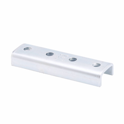 """Mayer-Eaton B-Line series strut fittings and accessories, .81"""" Height, 7.24"""" Length, 2.12"""" Width, 1.78lbs, Steel, Four hole splice clevis, Thickness 7/32 in, Fits channel type B52, Electro-plated-1"""
