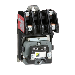 Mayer-Contactor, Type L, multipole lighting, electrically held, 30A, 2 pole, 600 V, 110/120 VAC 50/60 Hz coil, open style-1